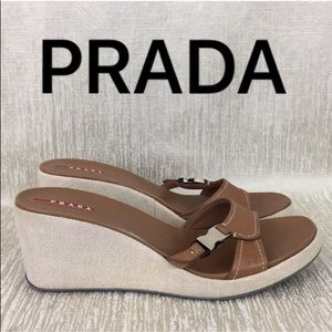 ⭐️ PRADA WEDGE SANDALS 💯AUTHENTIC